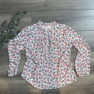 New Floral LOFT Long Sleeved Blouse